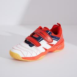 兒童款輕量羽球鞋BS 560-白紅配色