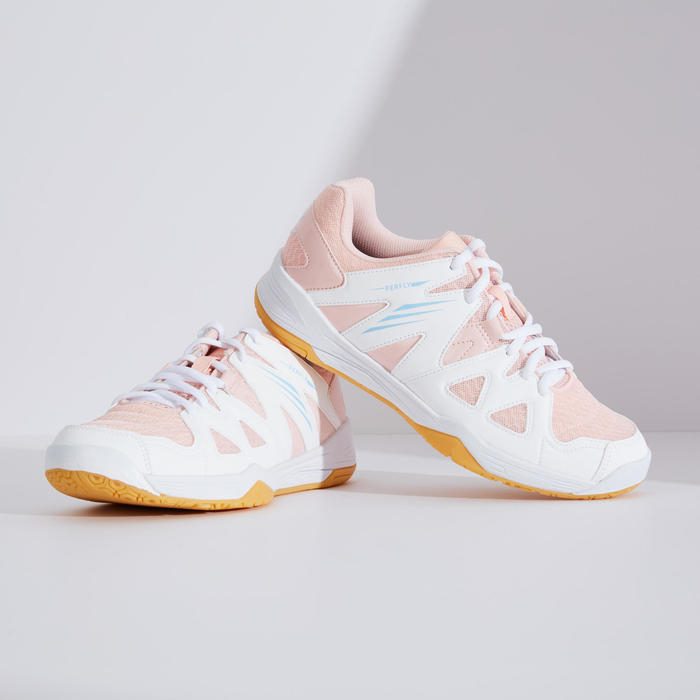 WOMEN BADMINTON SHOES BS 530 WHITE PINK