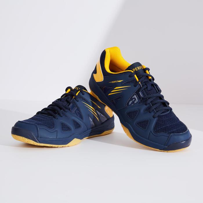 Badmintonschoenen voor heren BS 530 marineblauw/geel