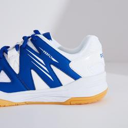 Chaussures De Badminton BS 500 Junior - Blanc/Bleu