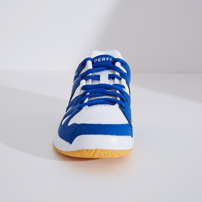 Badmintonschoenen voor kinderen BS 500 wit/blauw