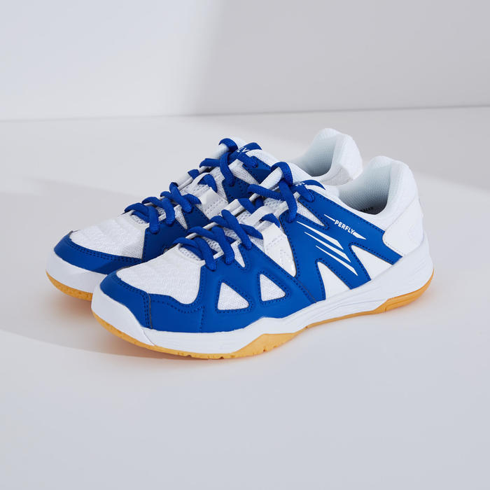 Chaussures De Badminton Junior BS 500 - Blanc/Bleu