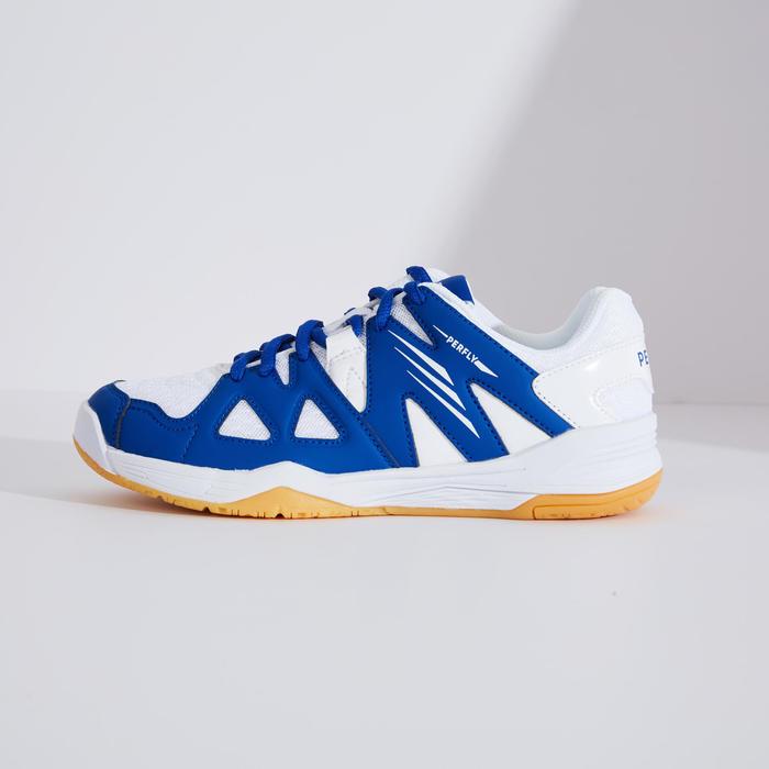 青少年款羽球鞋BS 500白色及藍色配色