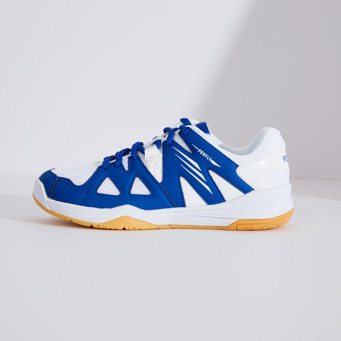 Chaussures De Badminton BS 500 Junior - Blanc/Bleu
