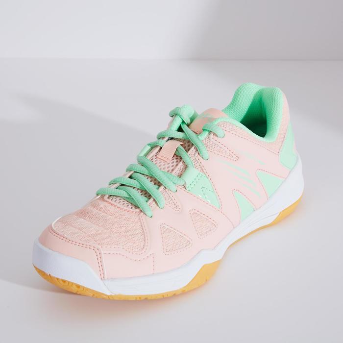 青少年款羽球鞋BS 500-粉綠配色