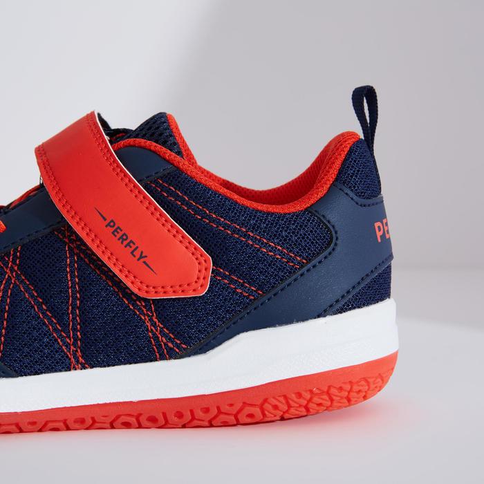 青少年款羽球鞋BS 160海軍藍及紅色配色