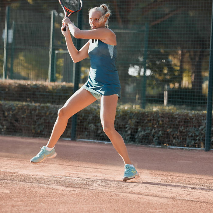 Tennisshorty voor dames BOX 900 turquoise