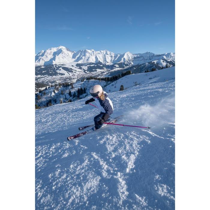 Ski-jas voor kinderen 500 wit/blauw