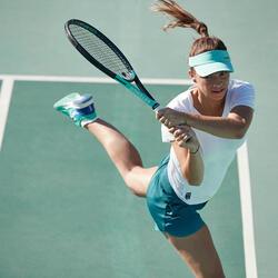 Tennisshort voor dames SH DRY 500 groen