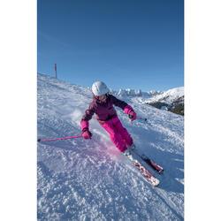 兒童滑雪長褲PNF 500-粉紅色