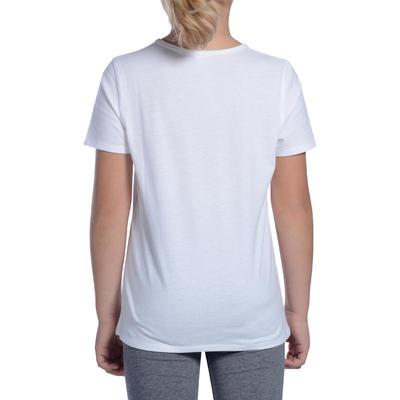 Boys' Short-Sleeved Gym T-Shirt 100 - White
