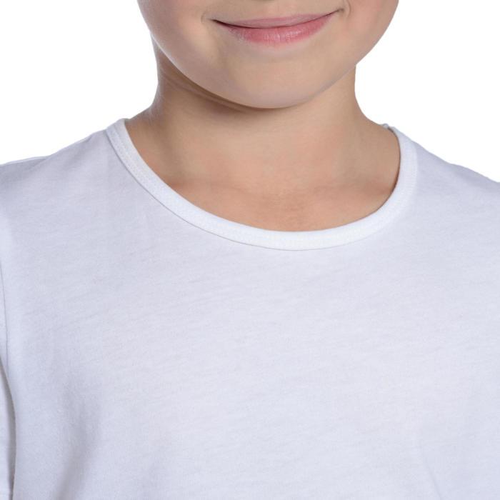 男童健身短袖T恤100 - 白色