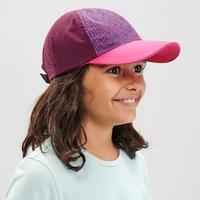 Casquette de randonnée enfant MH100 violette 7-15 ans