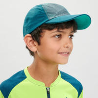 Kids' Hiking Cap MH100 Aged 7-15 Green
