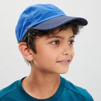 Casquette de randonnée enfant MH100 bleu 7-15 ans