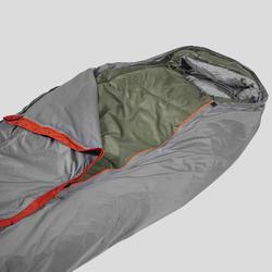 Waterdichte en ademende bivakzak voor trekking grijs/oranje