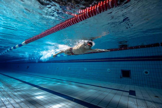 Swimming Goggles BFAST - Black Red Mirror Lenses