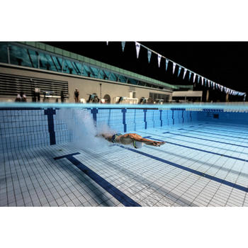 Zwemslip voor jongens 900 Yoke blauw