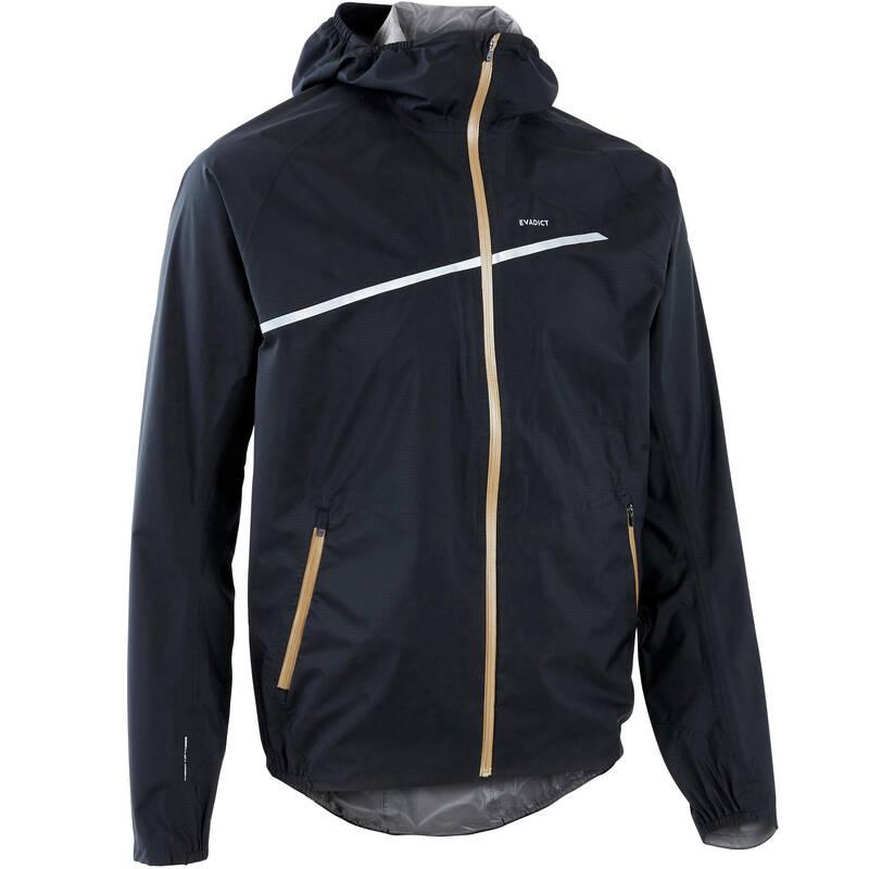 PÁNSKÉ TRAILOVÉ OBLEČENÍ Běh - BUNDA NA TRAILOVÝ BĚH ČERNÁ  EVADICT - Běžecké oblečení