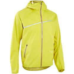 Casaco Impermeável de Trail Running Homem Verde/Amarelo