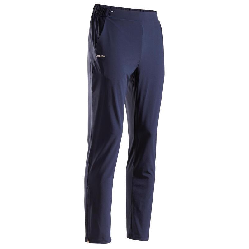 Pantalon Tenis T500 Bleumarin Bărbați