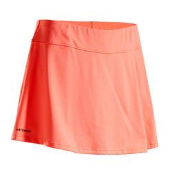 Tennisrok voor dames SK Soft 500 koraalrood