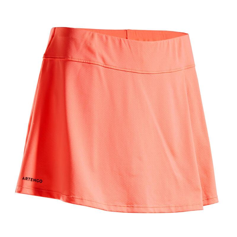 Women's Tennis Skirt SK Soft 500 - Coral