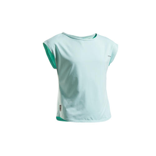 T SHIRT TENNIS JUNIOR FILLE TURQUOISE