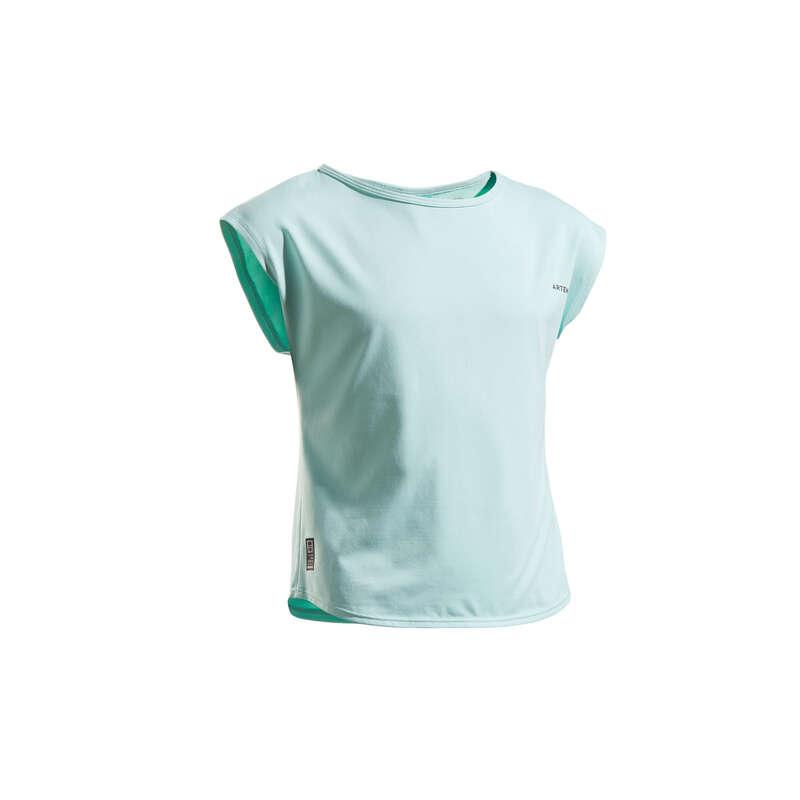 ABBIGLIAMENTO TUTTE LE STAGIONI JUNIOR Sport di racchetta - T-shirt bambina 500 turchese ARTENGO - PADEL