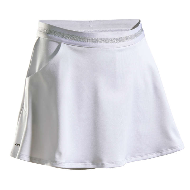 JUNIOR WARM APPAREL Squash - Girls' TSK500 - White ARTENGO - Squash