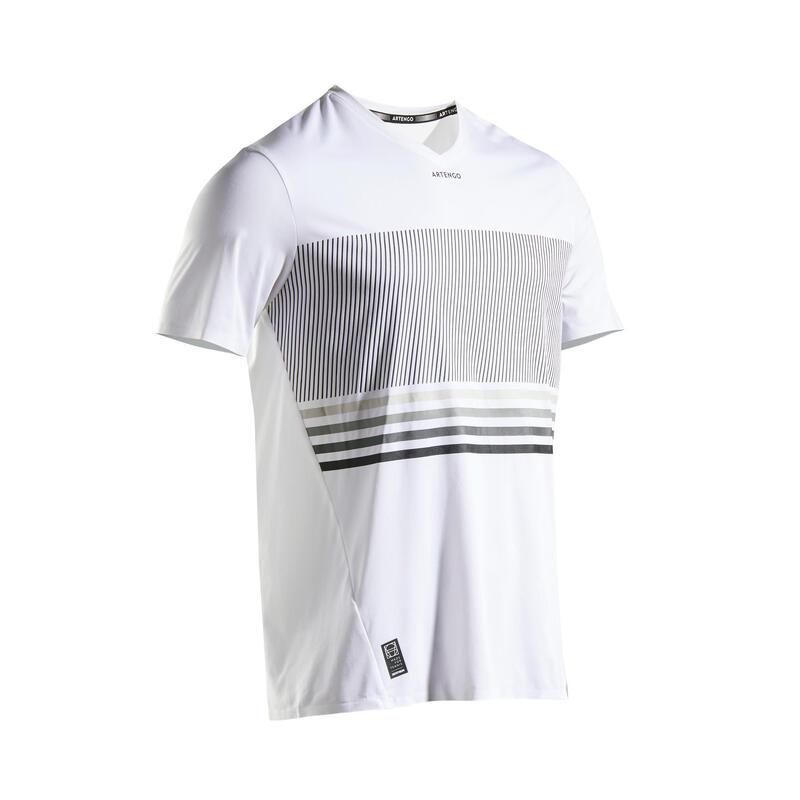 Tennisshirt voor heren TTS 900 Light wit zwart