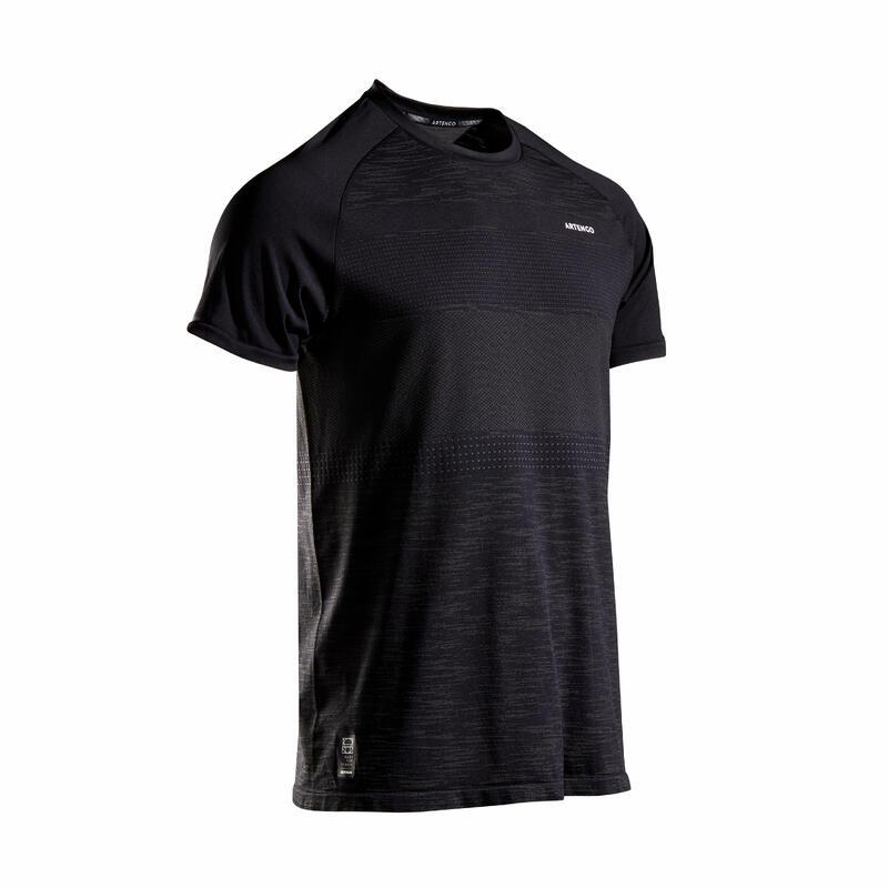 Erkek Tenis Tişörtü - Siyah - TTS 500 SOFT