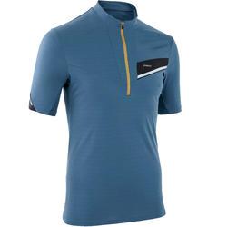 Tee shirt manches courtes trail running homme gris noir