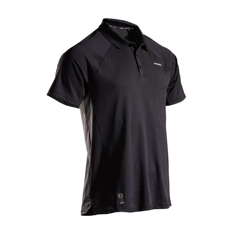MEN WARM CONDITION RACKET SP APAREL Squash - TPO 500 Dry - Black ARTENGO - Squash Clothing