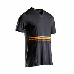 T-Shirt TTS900 Light Tennisshirt Herren grau/gelb