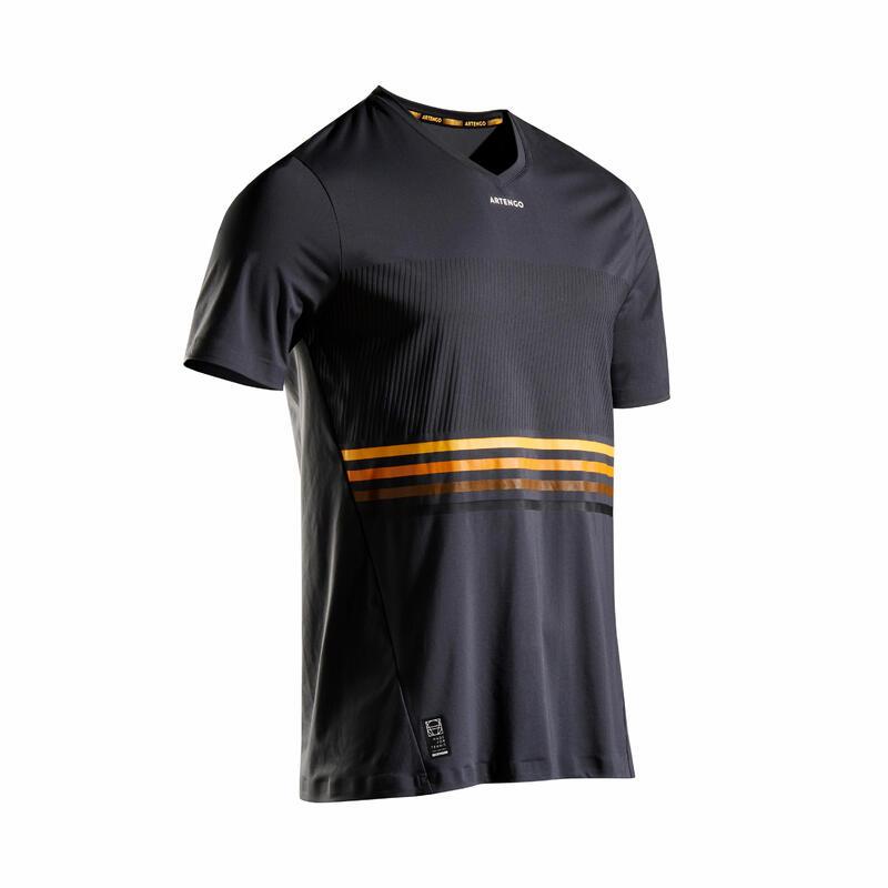 Men's Tennis T-Shirt TTS 900 Light - Grey/Yellow