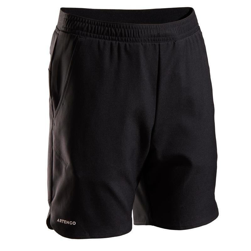 Pantalón Corto de Tenis Artengo TSH500 Niño Negro