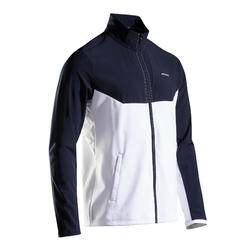Tennis trainingsjack voor heren TJA 500 blauw/wit