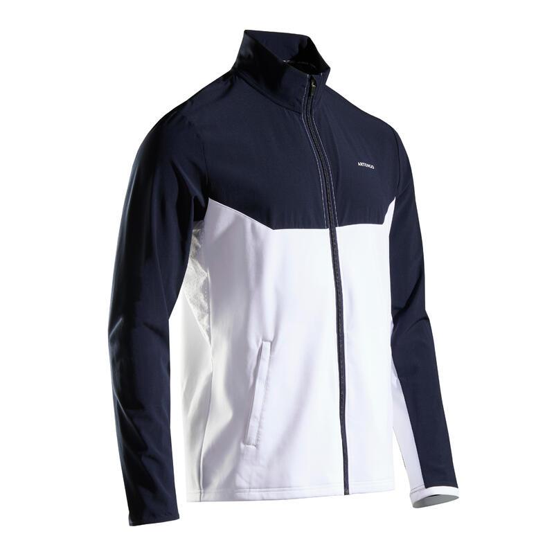 Tennis trainingsjack voor heren TJA 500 blauw/wit