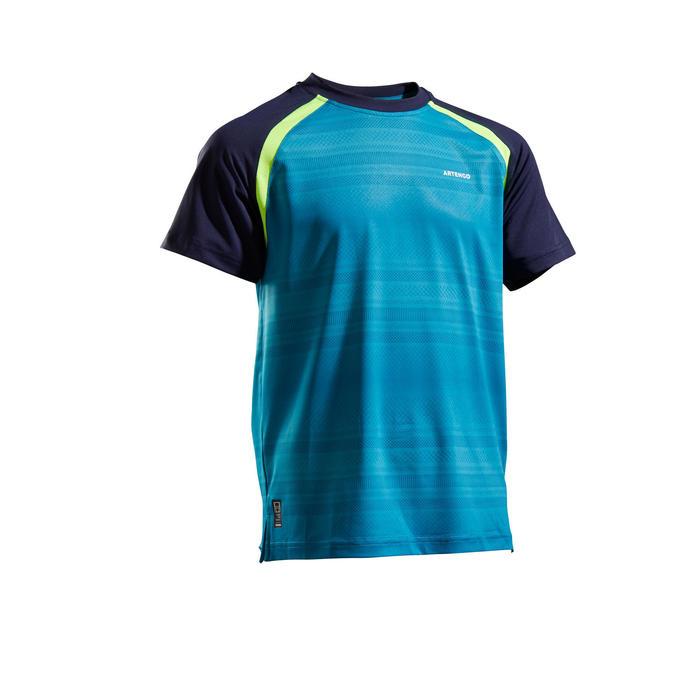 T-shirt voor kinderen 500 blauw marineblauw