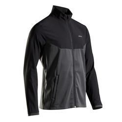 男款網球外套TJA 500 - 黑灰配色