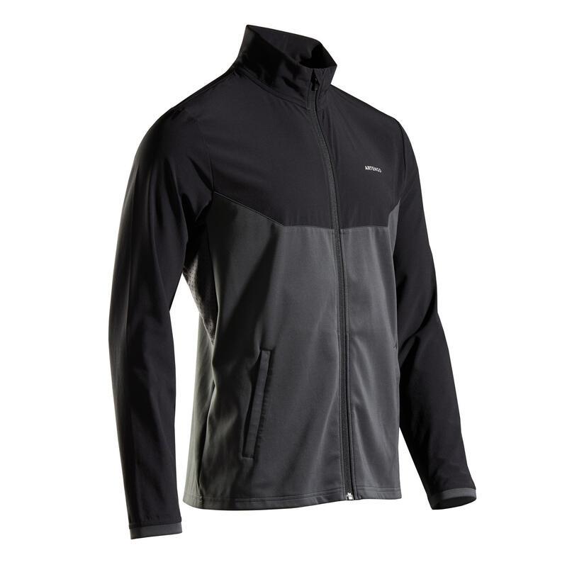 Men's Tennis Jacket TJA 500 - Black/Grey