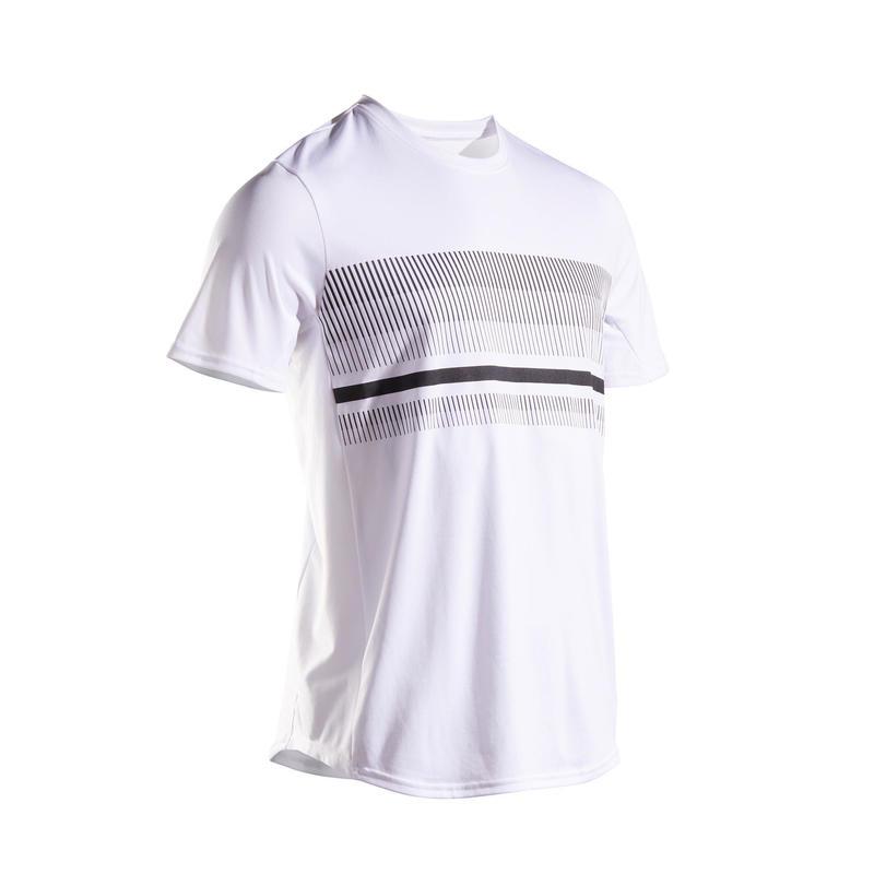 Tennisshirt voor heren TTS100 wit