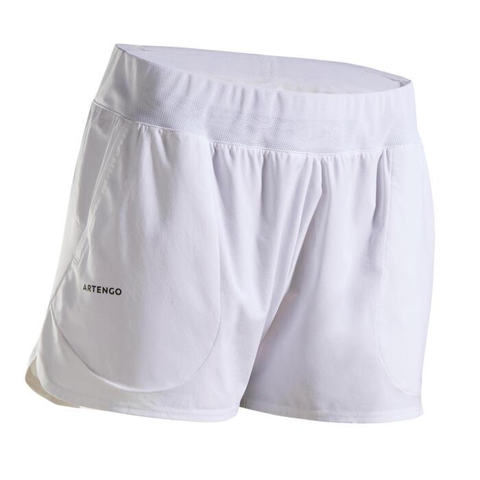 Tennisshort voor dames SH Dry 500 wit
