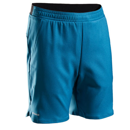 Kids' Tennis Shorts TSH500 - Petrol Blue