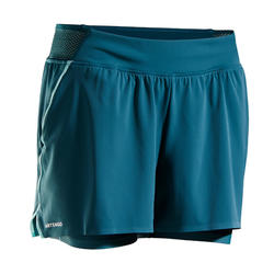Tennisshort voor dames SH Light 900 groen