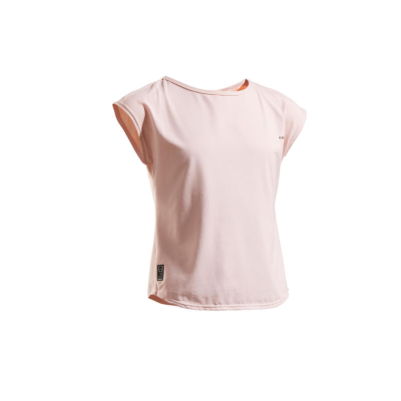T.SHIRT 500 FILLE ROSE
