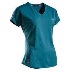 Tennis-T-shirt voor dames TS Soft 500 groen