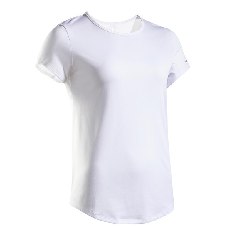 女款網球T恤TS Dry 100-白色