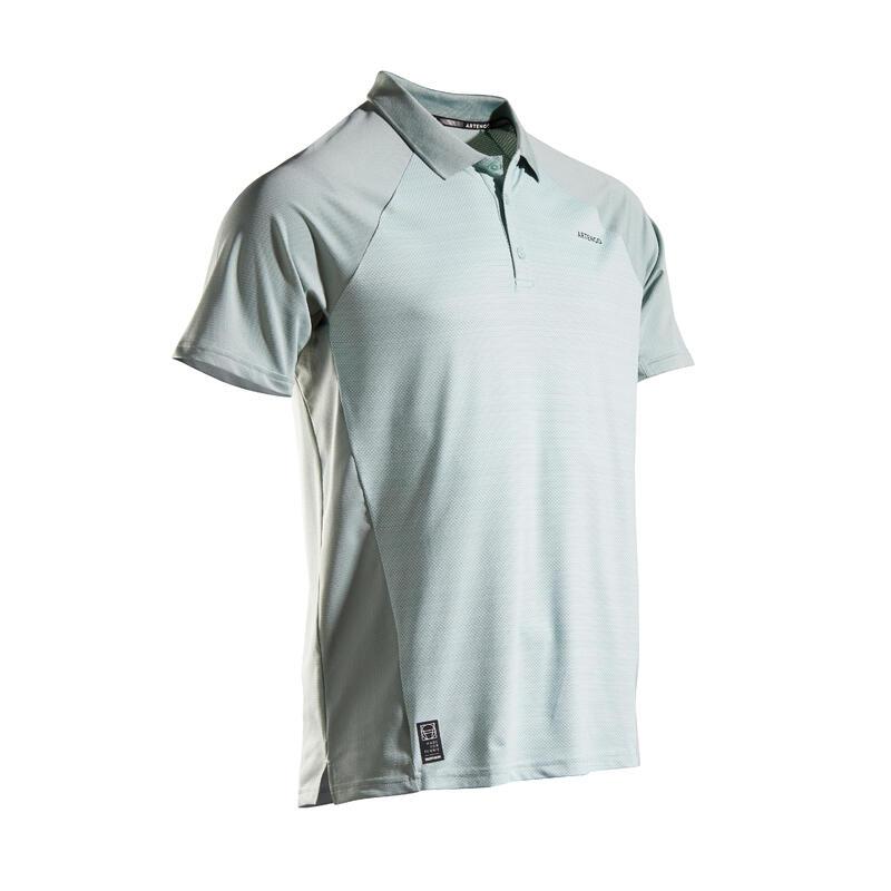Men's Tennis Polo Shirt TPO 500 Dry - Green Graphic